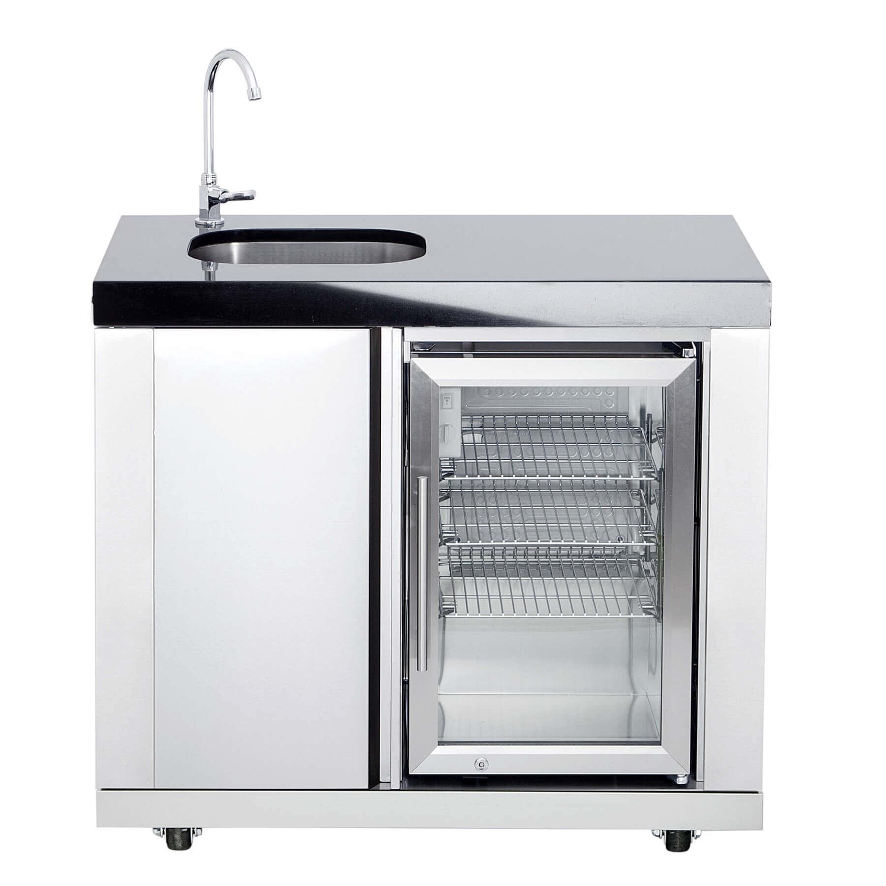 waschbecken und kühlschrank